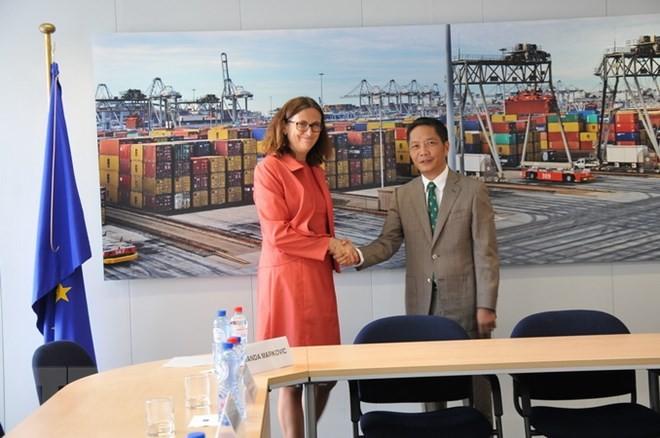 Вьетнам и ЕС завершили юридический разбор Соглашения о свободной торговле между Вьетнамом и ЕС - ảnh 1