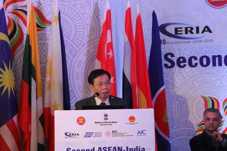 Вьетнам принял участие во 2-м семинаре АСЕАН-Индия по зеленой морской экономике - ảnh 1