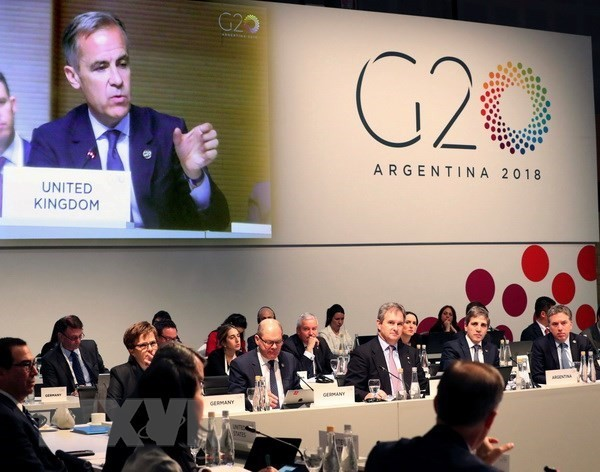 Министры финансов G20 выступили против торговых войн, призвали к поиску решений в рамках ВТО - ảnh 1