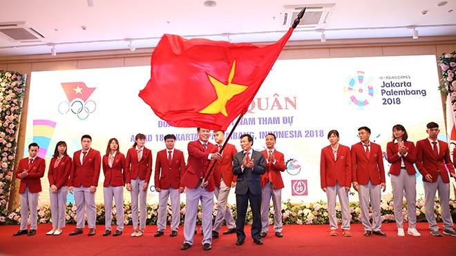 Вьетнамская спортивная делегация готова к участию в Азиатских играх 2018 - ảnh 1