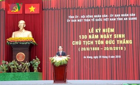 Отмечается 130-я годовщина со дня рождения Президента Тон Дык Тханга - ảnh 1