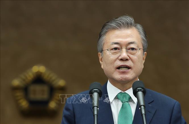 Мун Чжэ Ин призвал Пхеньян и Вашингтон к конструктивным встречным шагам - ảnh 1
