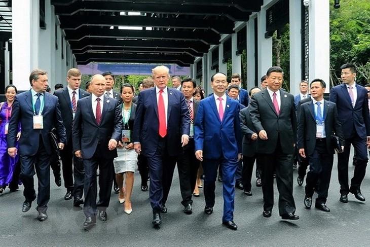 Усилия президента Чан Дай Куанга для повышения позиции Вьетнама на международной арене - ảnh 1