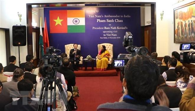 Пресс-конференция, посвященная предстоящему визиту президента Индии во Вьетнам - ảnh 1