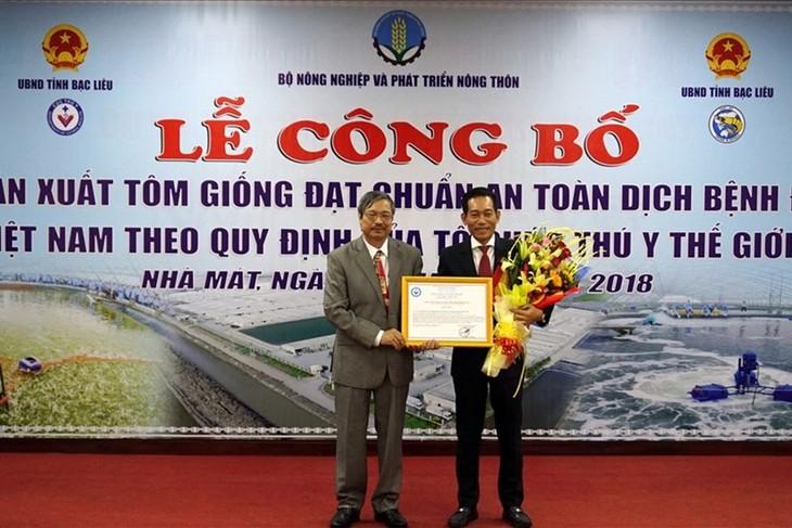 Первая во Вьетнаме ферма по выращиванию племенной креветки отвечает стандарты МЭБ  - ảnh 1