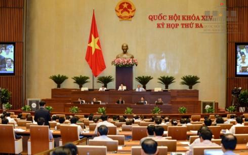 Para anggota MN Vietnam memhabas RUU mengenai Irigasi - ảnh 1