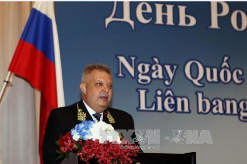 Upacara peringatan Hari Nasional Federasi Rusia diadakan di kota Ho Chi Minh - ảnh 1