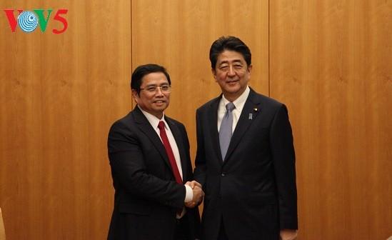 Pimpinan Pemerintah dan Majelis Rendah Jepang menerima delegasi Partai Komunis Vietnam - ảnh 1