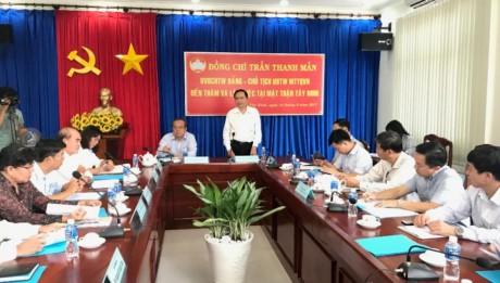 Ketua Pengurus Besar Front Tanah Air Vietnam, Tran Thanh Man melakukan kunjungan kerja di Provinsi Tay Ninh - ảnh 1