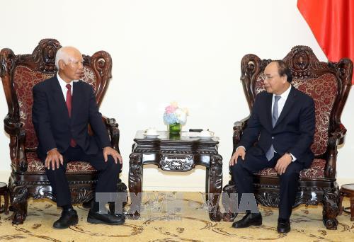 PM Vietnam, Nguyen Xuan Phuc menerima mantan Presiden Grup Taisei - ảnh 1