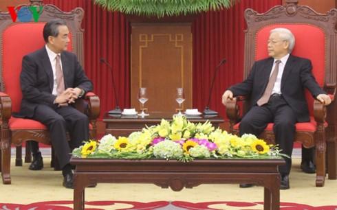 Sekjen KS PKV Nguyen Phu Trong menerima Menlu Tiongkok, Wang Yi - ảnh 1