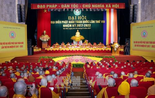 Pembukaan Kongres Nasional ke-8 Agama Buddha Vietnam - ảnh 1