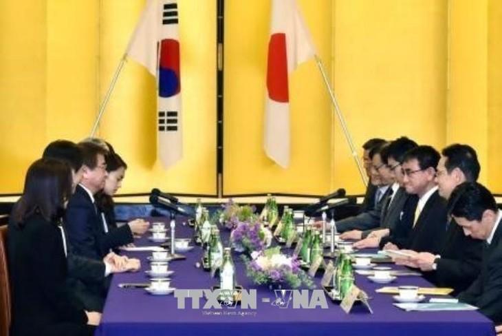 Jepang dan Republik Korea sepakat mempertahankan tekanan maksimal terhadap RDRK - ảnh 1