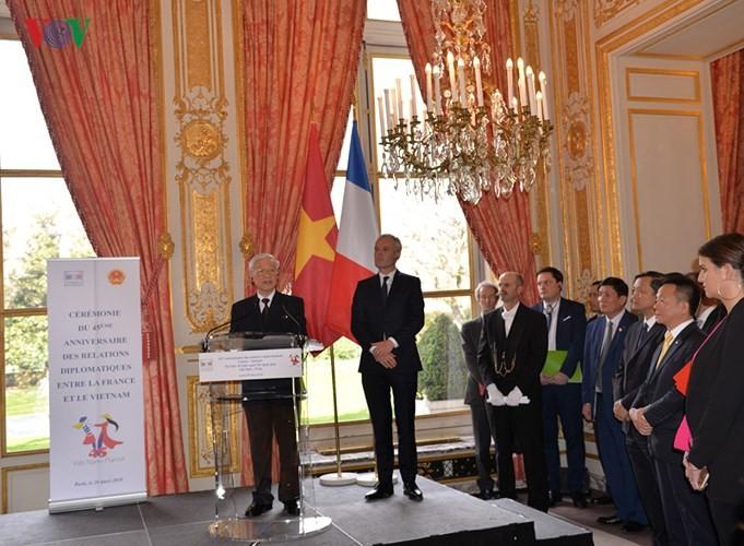 Memperingati ultah ke-45 hubungan diplomatik Vietnam-Perancis - ảnh 1