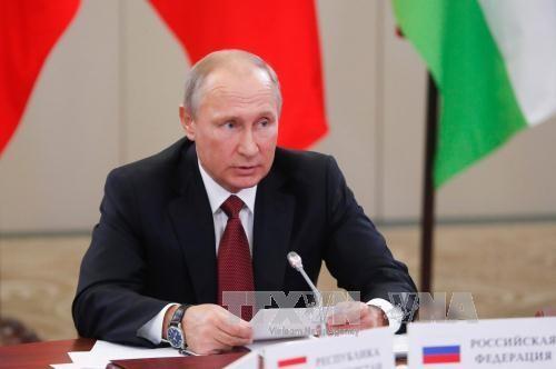 Presiden Rusia, Vladimir Putin menegaskan bahwa sanksi-sanksi terhadap Rusia akan berangsur-angsur dihapuskan - ảnh 1