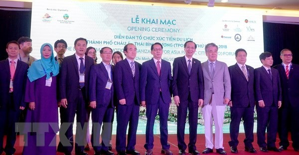 Pembukaan Forum Organisasi promosi wisata kota-kota Asia-Pasifik 2018 - ảnh 1
