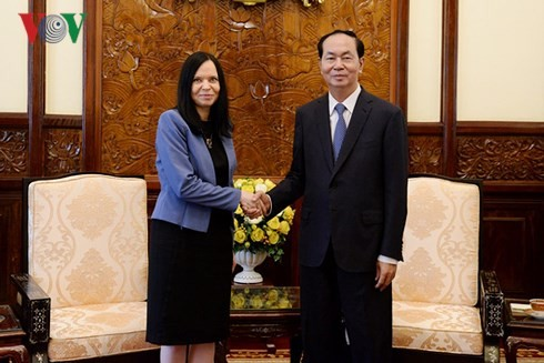 Presiden Vietnam, Tran Dai Quang menerima Dubes Polandia, Barbara Szymanowska - ảnh 1