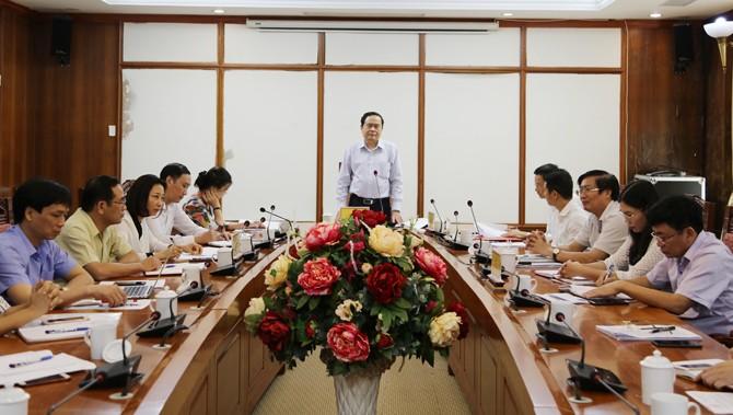 Ketua Pengurus Besar Front Tanah Air Vietnam, Tran Thanh Man melakukan temu kerja dengan pimpinan Provinsi Vinh Phuc - ảnh 1