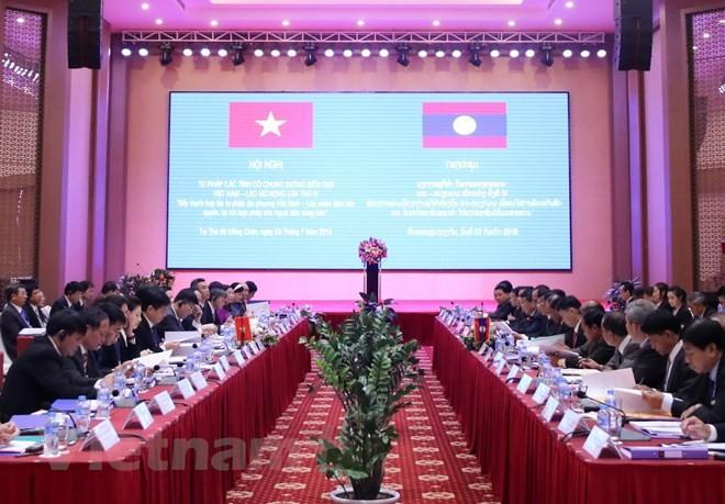 Vietnam dan Laos berupaya memecahkan secara pada  pokoknya masalah migran bebas dan hubungan luar nikah pada tahun 2019 - ảnh 1