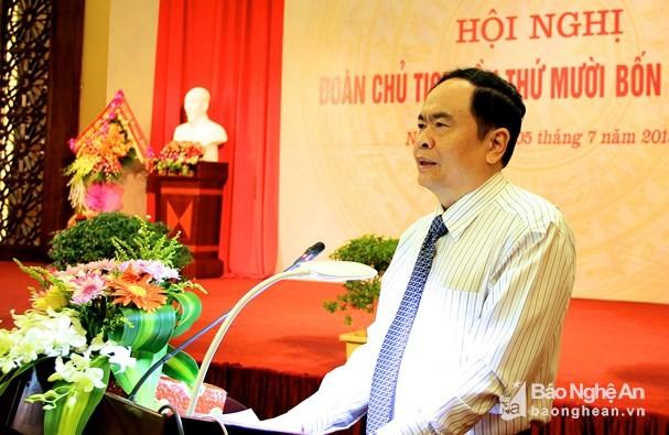 Pembukaan Konferensi Presidium ke-14 Pengurus Besar Front Tanah Air Vietnam - ảnh 1