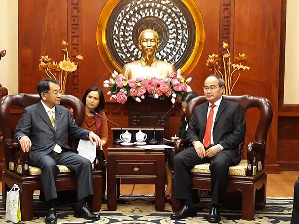 Pimpinan Kota Ho Chi Minh menerima Ketua Persekutuan Legislator Persahabatan Jepang-Mekong - ảnh 1