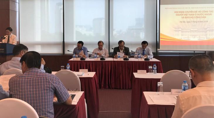 """Konferensi tematik: """"Pekerjaan terhadap orang Vietnam di luar negeri dan usaha melindungi warga negara - ảnh 1"""