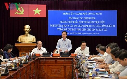 Membangun Kota Ho Chi Minh menjadi pusat pendidikan dan pelatihan yang berkualitas tinggi di kawasan - ảnh 1