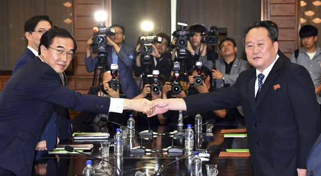 Republik Korea dan RDRK mengadakan perundingan tingkat tinggi untuk menyiapkan pertemuan puncak yang ke-3 - ảnh 1