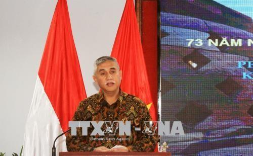 Peringatan ultah ke-73 Hari Kemerdekaan Republik Indonesia - ảnh 1