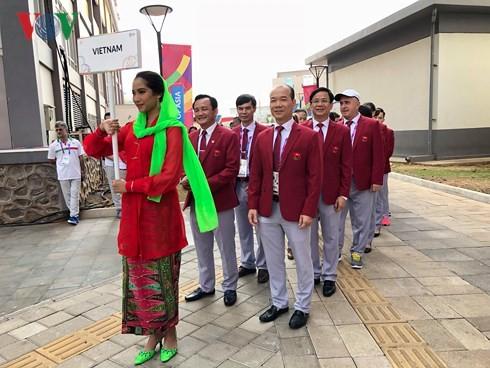Asian Games 2018: Upacara Bendera Nasional diadakan kontingen olahraga Vietnam - ảnh 1