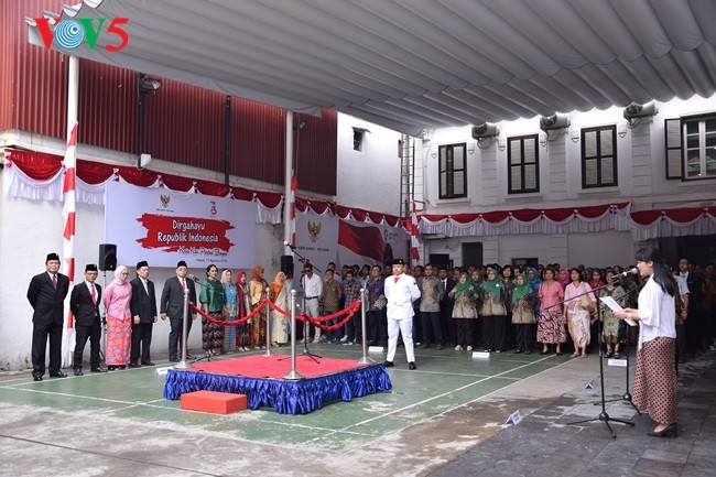 Upacara Bendera sehubungan dengan Hari Kemerdekaan Republik Indonesia (17/08/1945-17/08/2018) - ảnh 5