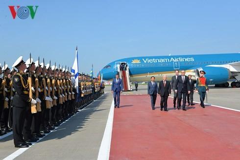 Sekjen KS PKV Nguyen Phu Trong mulai melakukan kunjungan resmi di Federasi Rusia - ảnh 1
