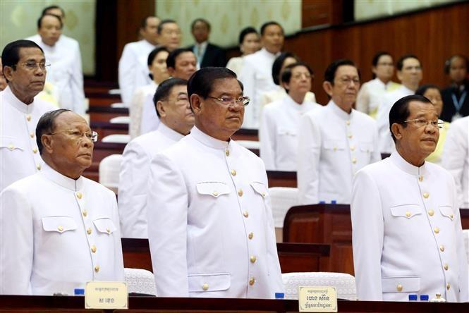 Parlemen Kamboja memberikan suara kepercayaan terhadap Samdech Techo Hun Sen untuk menjadi PM Kamboja - ảnh 1