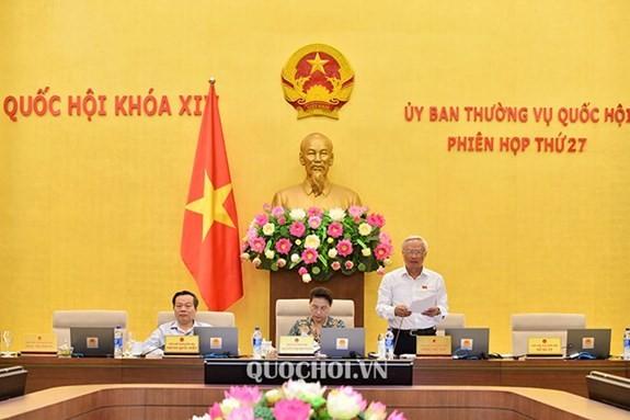 Sidang ke-27 Komite Tetap MN Vietnam angkatan XIV: Menjamin sifat stabil dan tunggal dari sistim perundang-undangan - ảnh 1
