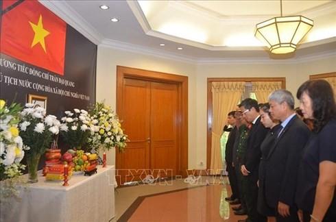 Pimpinan beberapa negara, Partai, Ormas dan Asosiasi diaspora Vietnam menyatakan perasaan sayang kepada Presiden Tran Dai Quang - ảnh 1