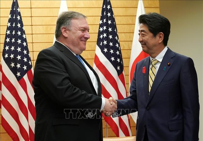 Jepang dan AS sepakat membahas kunjungan Menlu AS, Mike Pompeo ke RDRK - ảnh 1