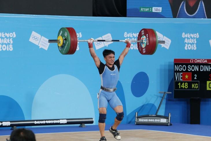 Pegulat Ngo Xuan Dinh merebut medali emas di Olimpiade Remaja 2018 - ảnh 1