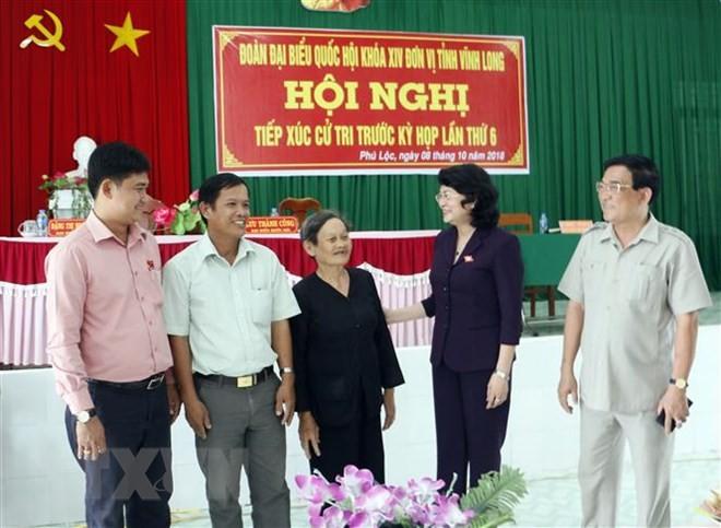 Rombongan anggota MN Vietnam di daerah-daerah mencatat pendapat para pemilih - ảnh 2