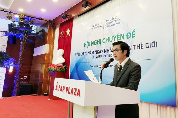 Konferensi tematik memperingati HUT ke-70 Hari HAM Sedunia - ảnh 1