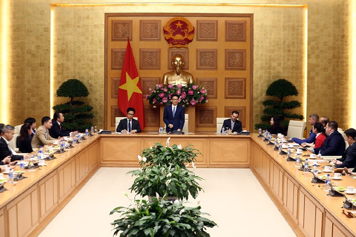 Deputi PM Vietnam, Vu Duc Dam mengadakan temu muka dengan Dewan Badan Usaha demi perkembangan yang berkesinambungan - ảnh 1