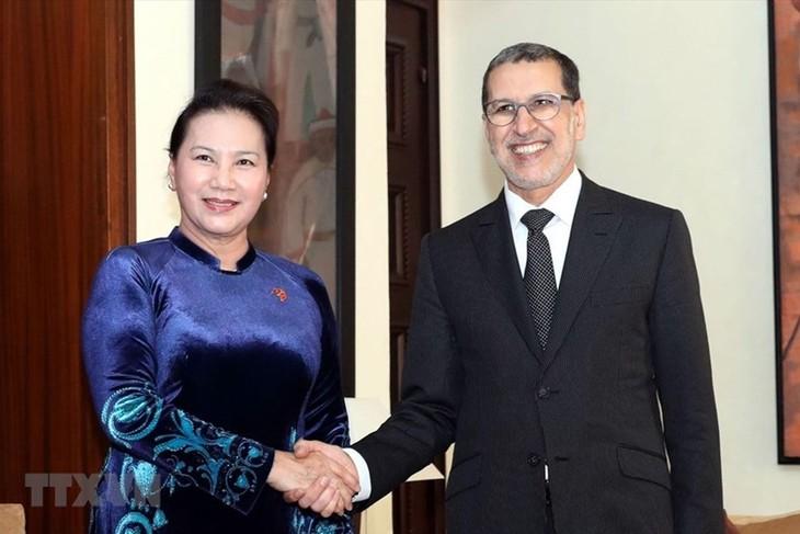 Ketua MN Vietnam, Nguyen Thi Kim Ngan melakukan pertemuan dengan PM Kerajaan Maroko - ảnh 1