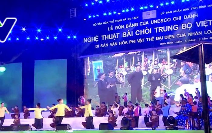 """Upacara menerima Piagam UNESCO yang mencatat """"Seni nyanyian lagu rakyat Bai Choi Trung Bo, Vietnam"""" sebagai Pusaka budaya  nonbendawi yang memwakili umat manusia - ảnh 1"""