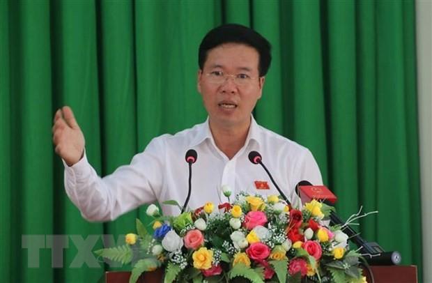 Kepala Departemen Komunikasi dan Pendidikan KS PKV, Vo Van Thuong melakukan kontak dengan pemilih Kota Bien Hoa, Provinsi Dong Nai - ảnh 1