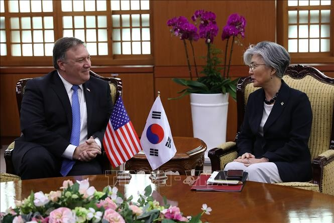 Menlu Republik Korea-AS mengadakan pembicaraan telepon tentang masalah-masalah panas - ảnh 1