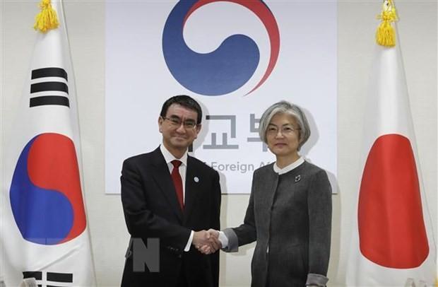 Para Menlu Jepang dan Republik Korea melakukan pembicaraan pada saat meningkatnya perdebatan diplomatik - ảnh 1
