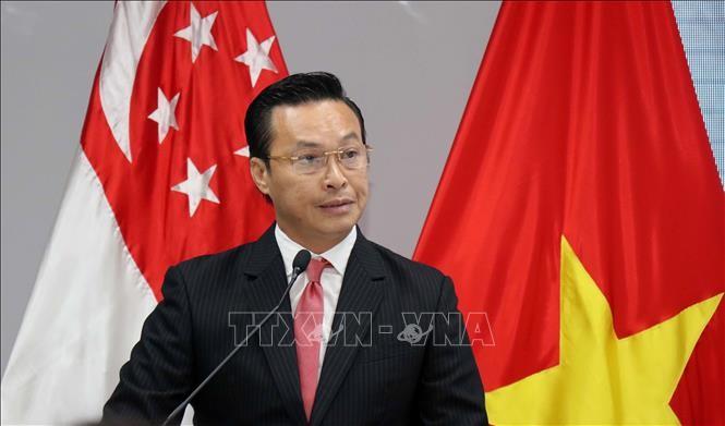 Mendorong hubungan persahabatan kerjasama antara rakyat Kota Ho Chi Minh dan Singapura - ảnh 1