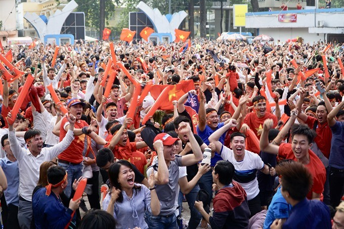 Vietnamese football fans ready for U23 Championship final  - ảnh 2
