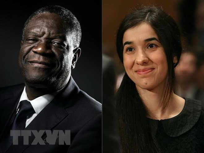 Nobel peace prize 2018 won by Denis Mukwege and Nadia Murad - ảnh 1