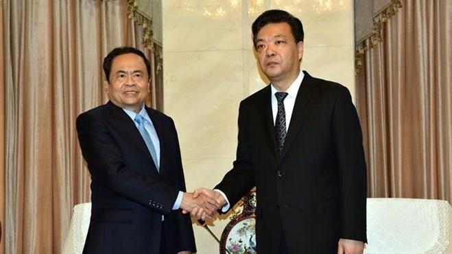 Vietnam Fatherland Front delegation visits China - ảnh 1