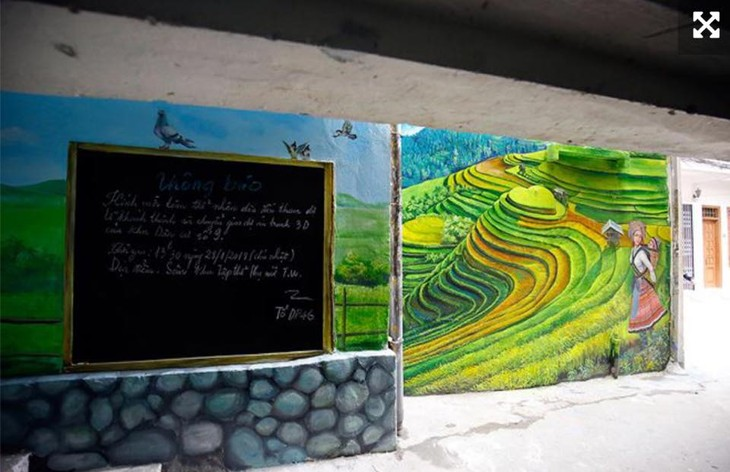 Murals change life in Hanoi's residential areas - ảnh 1